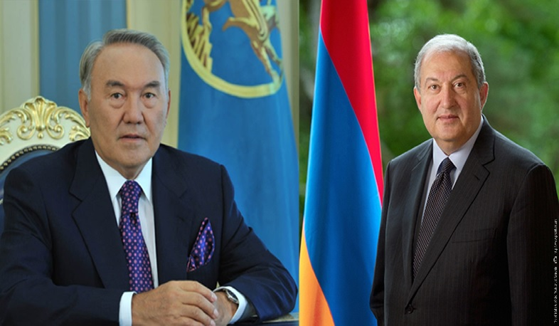 The current and former presidents of Kazakhstan congratulated Armen Sargsyan