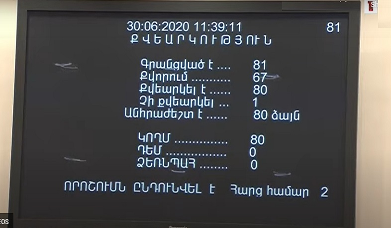 The National Assembly adopted the decision annulling the referendum