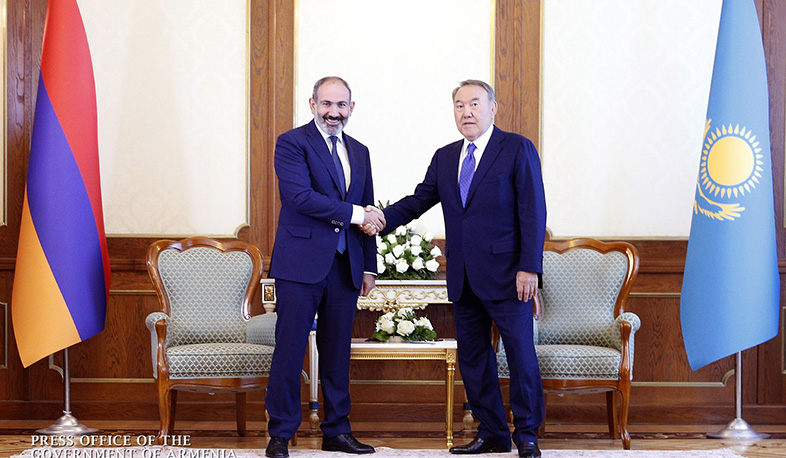 Nikol Pashinyan congratulated Nursultan Nazarbayev on his 80th birthday