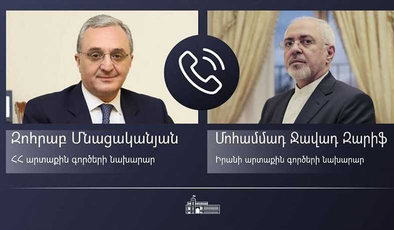 Zohrab Mnatsakanyan briefed the Iranian Foreign Minister on the Armenian-Azerbaijani border situation
