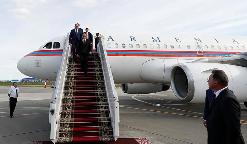 The RA Prime Minister arrives in Belarus on working visit