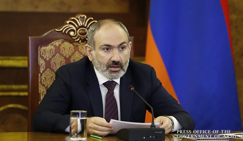 The RA Prime Minister Nikol Pashinyan addresses the sitting of the EEU Council.
