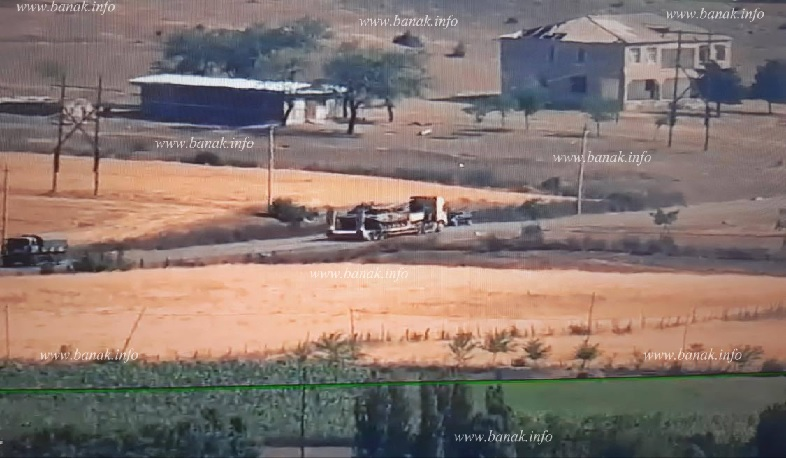 The Azerbaijani side is removing its damaged armored vehicles after the fighting
