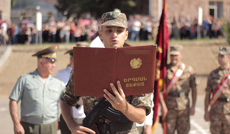 There will be no visits and receptions during military swearing-in ceremonies. Ministry of Defense