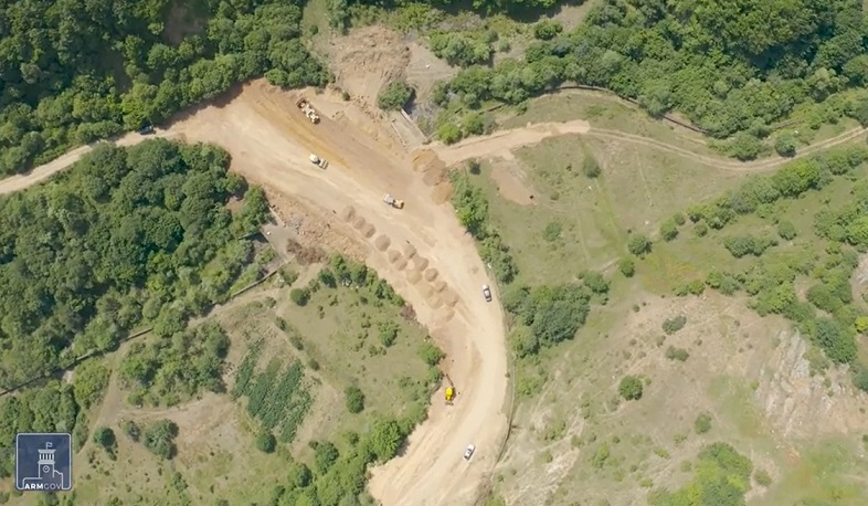 The Tatev-Aghvani-Kapan road is being reconstructed