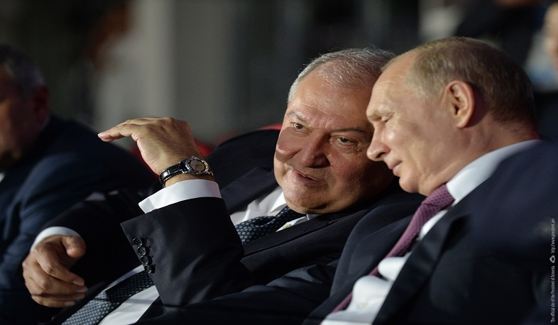 Vladimir Putin congratulated Armen Sarkissian: Relations between our countries are based on the traditions of friendship and mutual respect