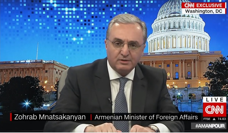 The issue of Artsakh is an issue of people's lives. Mnatsakanyan to CNN