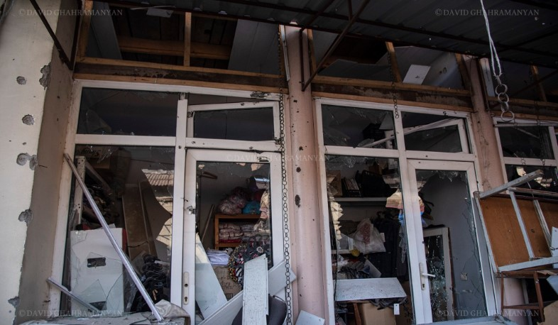The central market of Stepanakert was shelled in the morning.