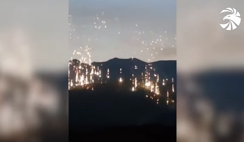 Azerbaijan uses banned phosphorous weapons against Artsakh. Video