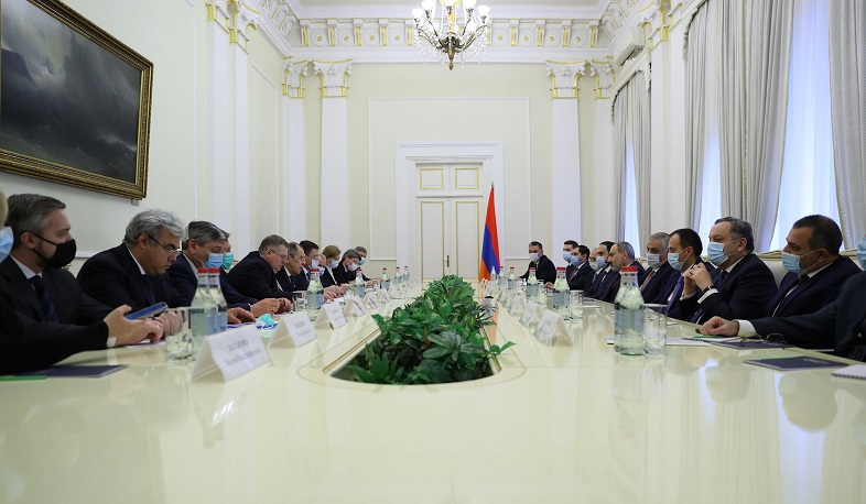 The members of the interdepartmental delegation of the RF met with the RA PM