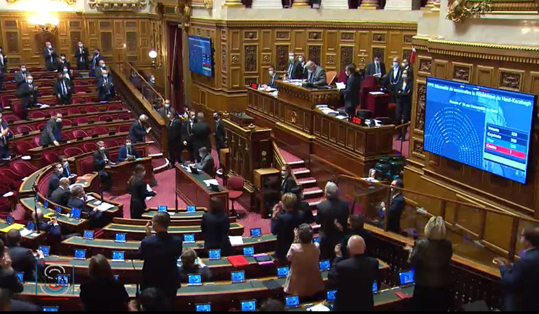 French Senate adopted a resolution recognizing Artsakh