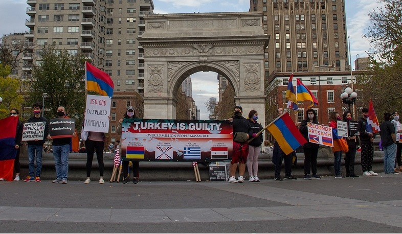 Armenian community in US calling to stop the cultural genocides by Turkey and Azerbaijan
