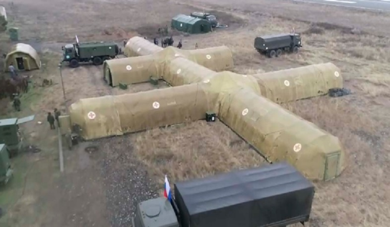 Russian Ministry of Defense has deployed a field hospital in Stepanakert