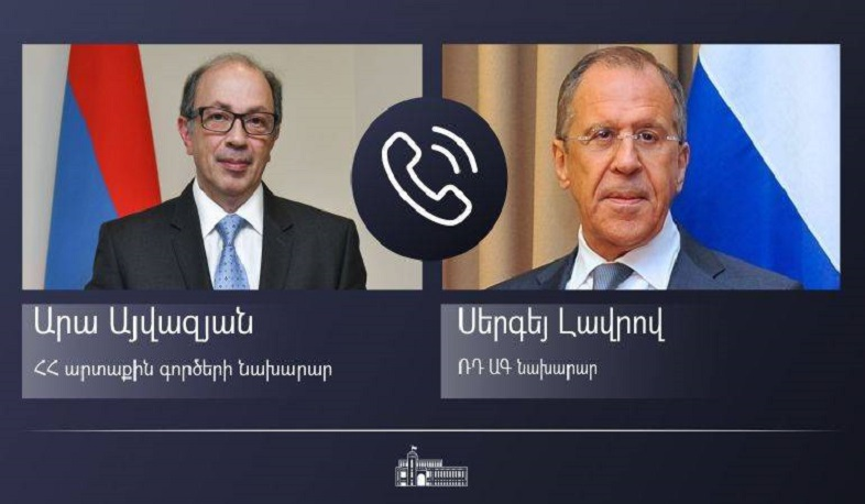 A phone conversation  took place between the Foreign Ministers of Armenia and Russia