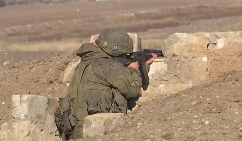 Servicemen of the Russian peacekeeping contingent in Nagorno-Karabakh began classes in the main subjects of combat training