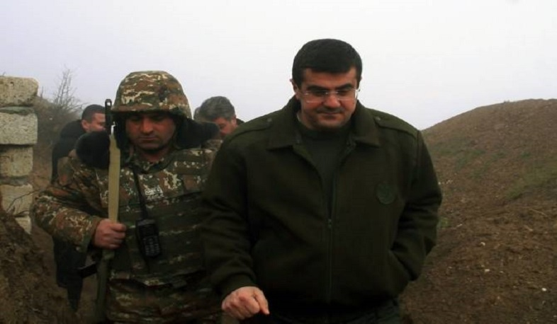 The President of Artsakh Arayik Harutyunyan started the year with a frontline visit