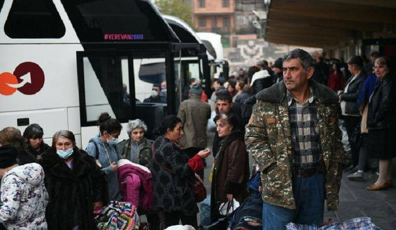 178 displaced Artsakh residents were transported from Yerevan to Stepanakert by buses