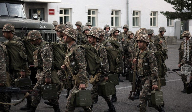 Artsakh Defense Army servicemen, Russian peacekeepers fulfill their duties. Poghosyan
