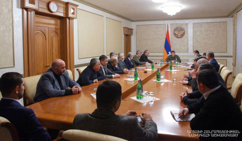 Arayik Harutyunyan convened an extended consultation on the draft state budget-2021of Artsakh