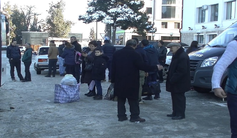 137 displaced people arrived in Stepanakert from Yerevan