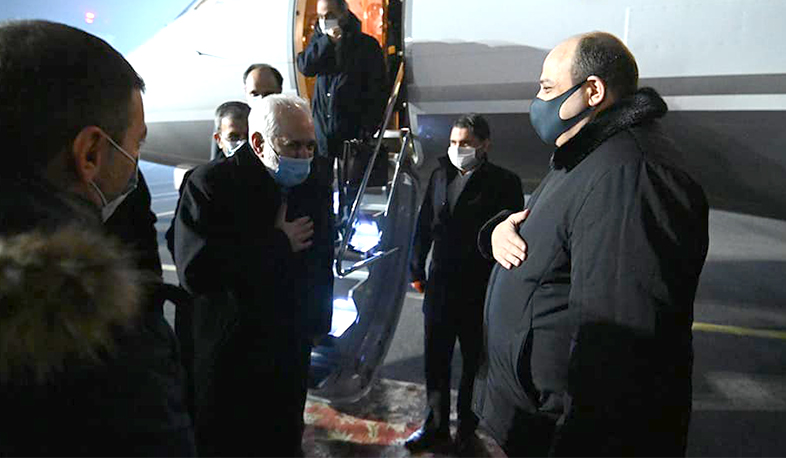 Iranian Foreign Minister Mohammad Javad Zarif has arrived in Armenia