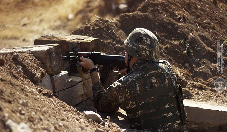 No incidents were registered along the entire state border of Armenia. MoD