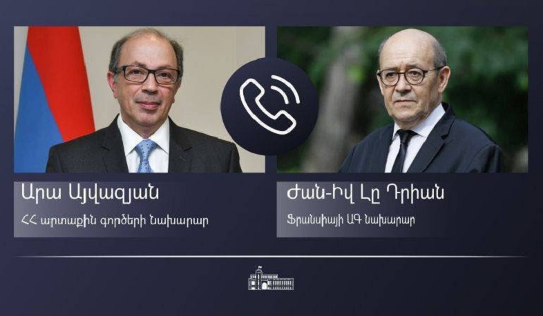 The phone conversation between the Foreign Ministers of Armenia and France took place