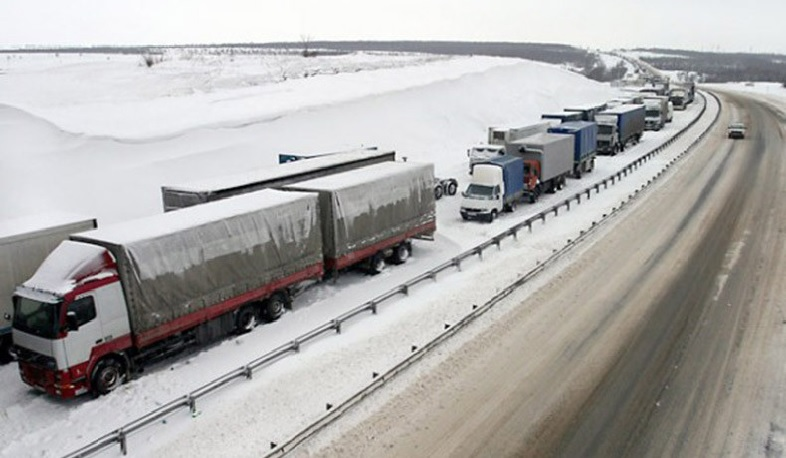 Lars is closed to all types of vehicles․ There are about 490 trucks on the Russian side