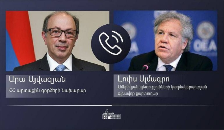 In a phone conversation with Luis Almagro, Ara Aivazian stressed the importance of the return of captives