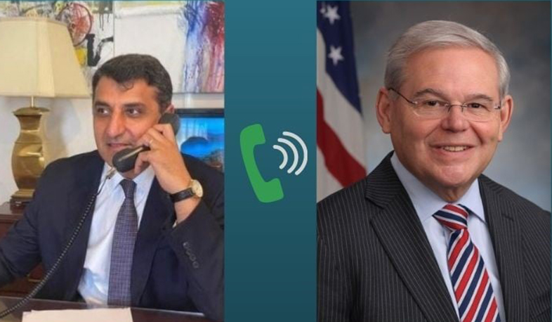 The RA Ambassador to the US held a phone conversation with the Senator Bob Menendez
