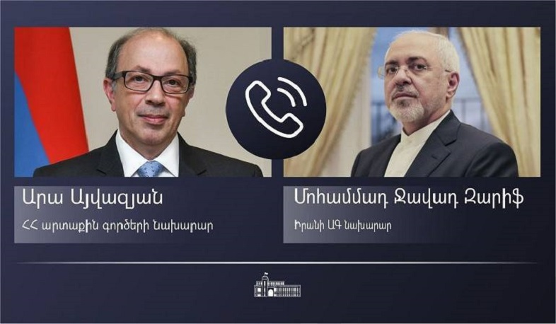 Foreign Minister Ara Aivazian had a phone conversation with Foreign Minister of Iran Mohammad Javad Zarif