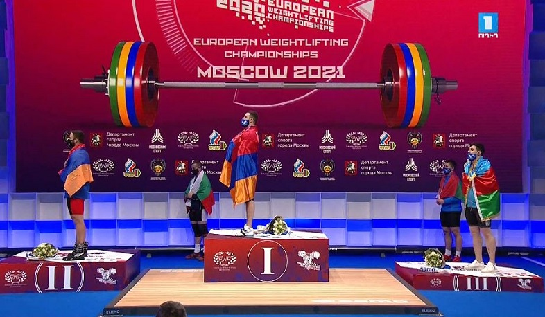 Armenian weightlifter Samvel Gasparyan became champion of Europe, Arsen Martirosyan - vice-champion