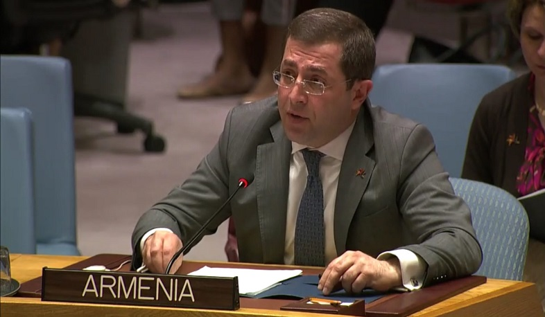 Armenia's Permanent Representative to UN draws Security Council attention to use of banned weapons against Artsakh residents