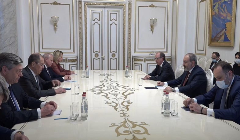 Nikol Pashinyan received Sergey Lavrov