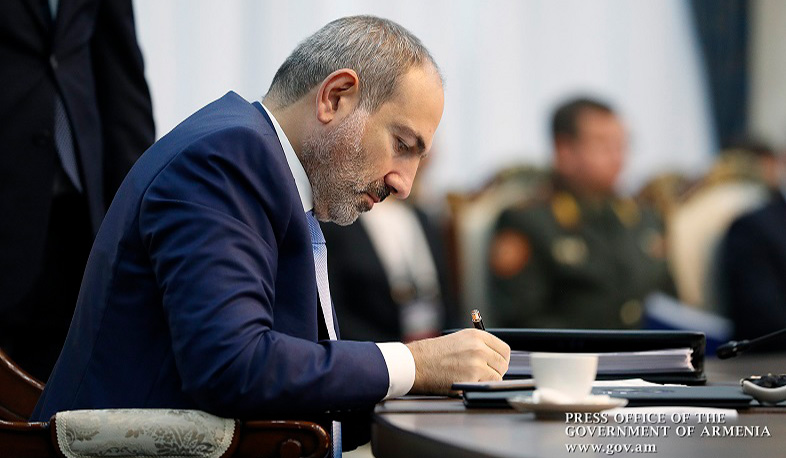 Today Nikol Pashinyan officially addressed the President of Tajikistan, Chairman of the CSTO Collective Security Council