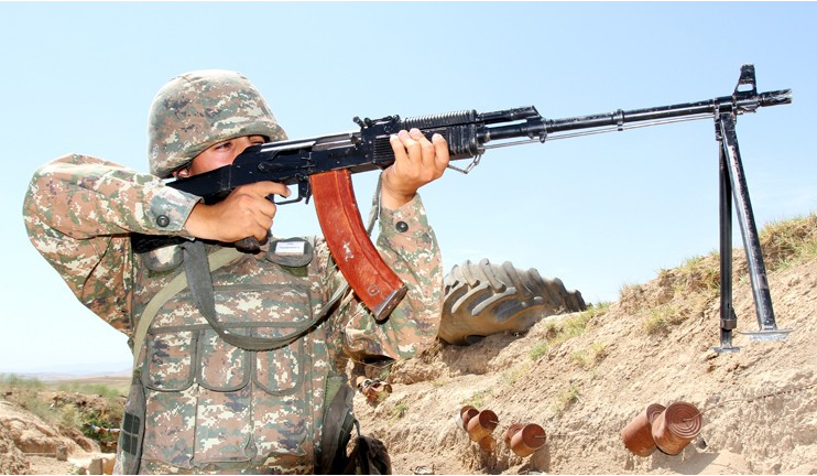 Azerbaijani group performs demining on the line of contact