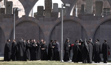 Incense smoked at Mother  See of Holy Etchmiadzin to commemorate fallen clergymen during Soviet period