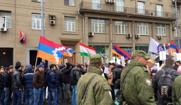 Scuffle between Armenians and Azeris in Moscow