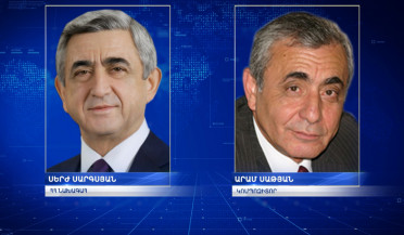 President Sargsyan congratulates Aram Satyan on the occasion of his anniversary