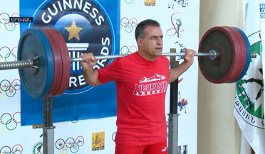 Guinness record holder Hrachya Arakelyan surpassed his previous record