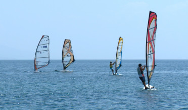 Windsurfing competition in Sevan