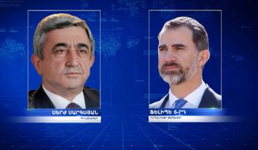 President Serzh Sargsyan sends condolence message to King of Spain