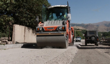 Nor Geghi-Hrazdan road in reconstruction