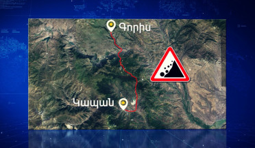 Collapse on Goris-Kapan highway