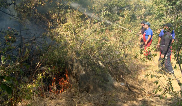 Fire still raging in Byurakan forest