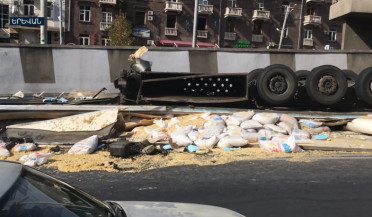 Car accident in Yerevan, driver died