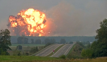 Explosion in Ukrainian ammunition storage