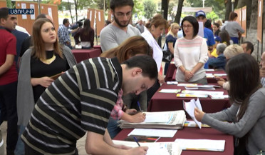 1464 people looking for job and 27 employees meet in Kapan