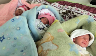 Triplets born in Gyumri