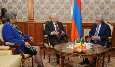 RA President receives scientists Yuri Oganesyan and Ani Aprahamyan